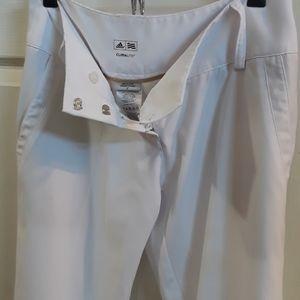 Perfect white Golf Pants Adidas nwot